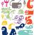 stickers · ingesteld · verschillend · kleur · papier · web - stockfoto © radoma