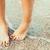 genç · kadın · ayak · parmakları · su · yaz · okyanus · yeşil - stok fotoğraf © radub85