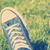 retro · sportcipők · zöld · fű · divat · sport · csillag - stock fotó © radub85