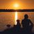 znajomych · wygaśnięcia · człowiek · psa · spaceru · jezioro - zdjęcia stock © raduga21