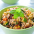 risotto · frango · legumes · tigela · verde · jantar - foto stock © rafalstachura