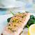 лосося · шпинат · гриль · лимона · продовольствие · обеда - Сток-фото © rafalstachura