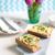 crispy baguette sandwich with egg spread on chopping board stock photo © rafalstachura