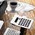 irodai · asztal · számítógép · számológép · csésze · kávé · üveg - stock fotó © rafalstachura