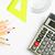 iskola · irodaszerek · szett · kellékek · számológép · fehér - stock fotó © rafalstachura