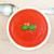 sopa · de · tomate · manjericão · branco · prato · mármore · fundo - foto stock © rafalstachura