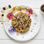 oatmeal cookie topped with chocolate arranged with cup of espres stock photo © rafalstachura