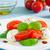 салат · Капрезе · моцарелла · томатный · базилик · бальзамического · уксуса - Сток-фото © rafalstachura
