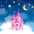 вектора · Принцесса · замок · ночь · Cartoon · башни - Сток-фото © RamonaKaulitzki