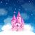 розовый · небе · замок · иллюстрация · сказка · Принцесса - Сток-фото © ramonakaulitzki