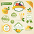 vector organic food labels and elements stock photo © ramonakaulitzki