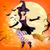 digitális · vektor · citromsárga · lila · boldog · halloween - stock fotó © ramonakaulitzki