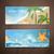 лет · путешествия · силуэта · пляж · закат · palm - Сток-фото © ramonakaulitzki