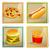 vector · menú · tarjetas · de · comida · rápida · plantillas · alimentos - foto stock © RamonaKaulitzki