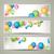 soyut · vektör · afişler · renkli · balonlar · ışık - stok fotoğraf © RamonaKaulitzki