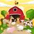 vector · boerderij · boerderijdieren · boom · natuur · kat - stockfoto © RamonaKaulitzki
