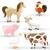 vector farm animals stock photo © ramonakaulitzki