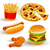 vetor · fast-food · conjunto · colorido · ícones · comida - foto stock © RamonaKaulitzki
