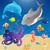 vetor · mar · desenho · animado · peixe · natureza · cavalo - foto stock © RamonaKaulitzki