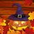 halloween · yüz · yaprak · arka · plan · turuncu · dişler - stok fotoğraf © RamonaKaulitzki
