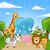 karikatür · goril · safari · örnek · mutlu · gülen - stok fotoğraf © ramonakaulitzki