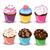 vektor · minitorták · szett · színes · étel · buli - stock fotó © RamonaKaulitzki