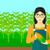 トウモロコシ · 農家 · 幸せ · 笑みを浮かべて · 手押し車 · フル - ストックフォト © rastudio