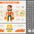 shopping flat design infographic template stock photo © rastudio
