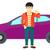 hombre · vector · automóvil · ventas · agente - foto stock © rastudio