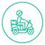 man carrying goods on bike line icon stock photo © rastudio