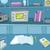 cartoon background of physics laboratory stock photo © rastudio