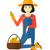 fille · jardinier · récolte · panier · illustration · femme - photo stock © rastudio