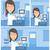giovani · ultrasuoni · medico · operatore · macchina - foto d'archivio © rastudio