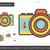 camera · sluiter · icon · vector · film · achtergrond - stockfoto © rastudio