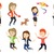 vector set of people during leisure activity stock photo © rastudio