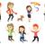 collectie · vector · illustraties · kinderen · spelen - stockfoto © rastudio