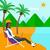 mulher · de · negócios · trabalhando · laptop · praia · jovem · sessão - foto stock © rastudio