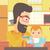 男 · 赤ちゃん · キッチン · 若い男 · 料理 - ストックフォト © rastudio