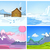 vector cartoon set of winter backgrounds stock photo © rastudio