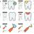 vonal · ikon · gyűjtemény · vektor · izolált · fehér · infografika - stock fotó © RAStudio