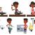 levering · dienst · lijn · ontwerp · illustratie · mannelijke - stockfoto © rastudio