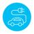 voiture · électrique · ligne · icône · vecteur · isolé · blanche - photo stock © rastudio