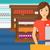saleslady standing at checkout stock photo © rastudio
