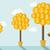 three money trees stock photo © rastudio