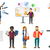 vector set of people using modern technologies stock photo © rastudio