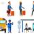 negros · transporte · público · jovem · alegre · passageiros - foto stock © rastudio