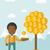 başarılı · Afrika · işadamı · durmak · üst · grafik - stok fotoğraf © rastudio