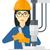 工場労働者 · 作業 · マシン · 孤立した · 白 · jpg - ストックフォト © rastudio