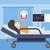 patiënt · hart · monitor · vrouw · zuurstofmasker - stockfoto © rastudio