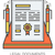 jurídica · documentos · línea · iconos · infografía · metáfora - foto stock © rastudio
